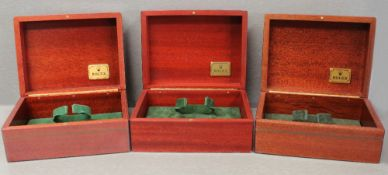 THREE ROLEX WRIST WATCH BOXES CIRCA 1990/2000s, NUMBERS INCLUDE 81.00.71, 81.00.09 FOR ROLEX DAY-