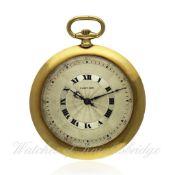 A FINE & RARE GENTLEMAN`S 18K SOLID GOLD CARTIER EUROPEAN WATCH & CLOCK CO POCKET WATCH CIRCA 1922