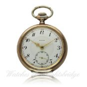 A GENTLEMAN`S SOLID SILVER & ROSE GOLD CAPPED ZENITH POCKET WATCH CIRCA 1915 D: Enamel dial with