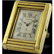 "A FINE & RARE 18K SOLID GOLD 8 DAY EUROPEAN WATCH CO ""KODAK MODEL"" TRAVEL WATCH CIRCA 1930"