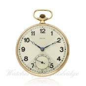 A RARE GENTLEMAN`S 9CT SOLID GOLD ROLEX POCKET WATCH CIRCA 1920s, REF 2217 D: Two tone quartered