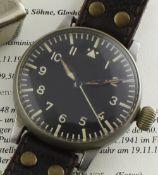 A RARE WWII GERMAN MILITARY A. LANGE & SOHNE LUFTWAFFE B.UHR PILOTS / NAVIGATORS WATCH DATED 1941