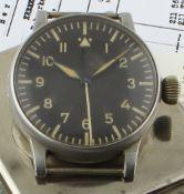 A RARE WWII GERMAN MILITARY A. LANGE & SOHNE LUFTWAFFE B.UHR PILOTS / NAVIGATORS WATCH CIRCA 1940,