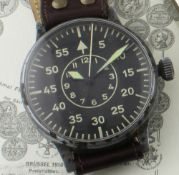 A RARE WWII GERMAN MILITARY LACO LUFTWAFFE B.UHR PILOTS / NAVIGATORS WATCH CIRCA 1941, REF.