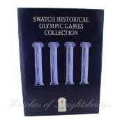 A LIMITED EDITION SWATCH HISTORICAL OLYMPIC GAMES COLLECTION BOX SET CIRCA 1990s Includes nine