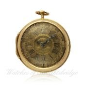 AN 18K SOLID GOLD PAIR CASE FUSEE VERGE POCKET WATCH CIRCA 1770 BY J.FAVRE OF LONDON D: Gold
