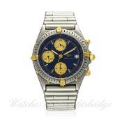 A GENTLEMAN`S STEEL & GOLD BREITLING CHRONOMAT CHRONOGRAPH BRACELET WATCH CIRCA 1990s, REF. 81950A