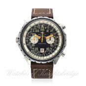 A RARE GENTLEMAN`S STAINLESS STEEL BREITLING 24 HOUR COSMONAUTE CHRONO-MATIC CHRONOGRAPH WRIST WATCH