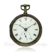 A FINE & RARE SOLID SILVER JOHN ARNOLD & SON FUSEE CHRONOMETER POCKET WATCH CIRCA 1800 D: Enamel