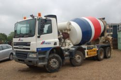 8x4 Concrete Mixers and Cars