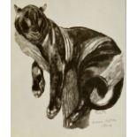 PAUL JOUVE (1878-1973) «Panthère banchée» Lithographie sur papier. Signée «Jouve», annotée «