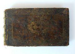 Reserve: 80 EUR        Stammbuch J.F. Weidenbacher Student in Altdorff/Nürnberg; mit 5 Kupfern von