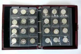 Reserve: 350 EUR        Münzalbum mit 93x 10 Mark u. 15x 5 Mark Münzen;