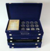 Reserve: 200 EUR        Münzsammlung jeweils in blauer Samtbox; Sympathieträger des dt. Fussballs 12