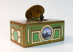 Reserve: 1000 EUR        Singvogel-Automat (Deutsch, Ende 19.Jh.) rechteckige Truhenform; Seiten