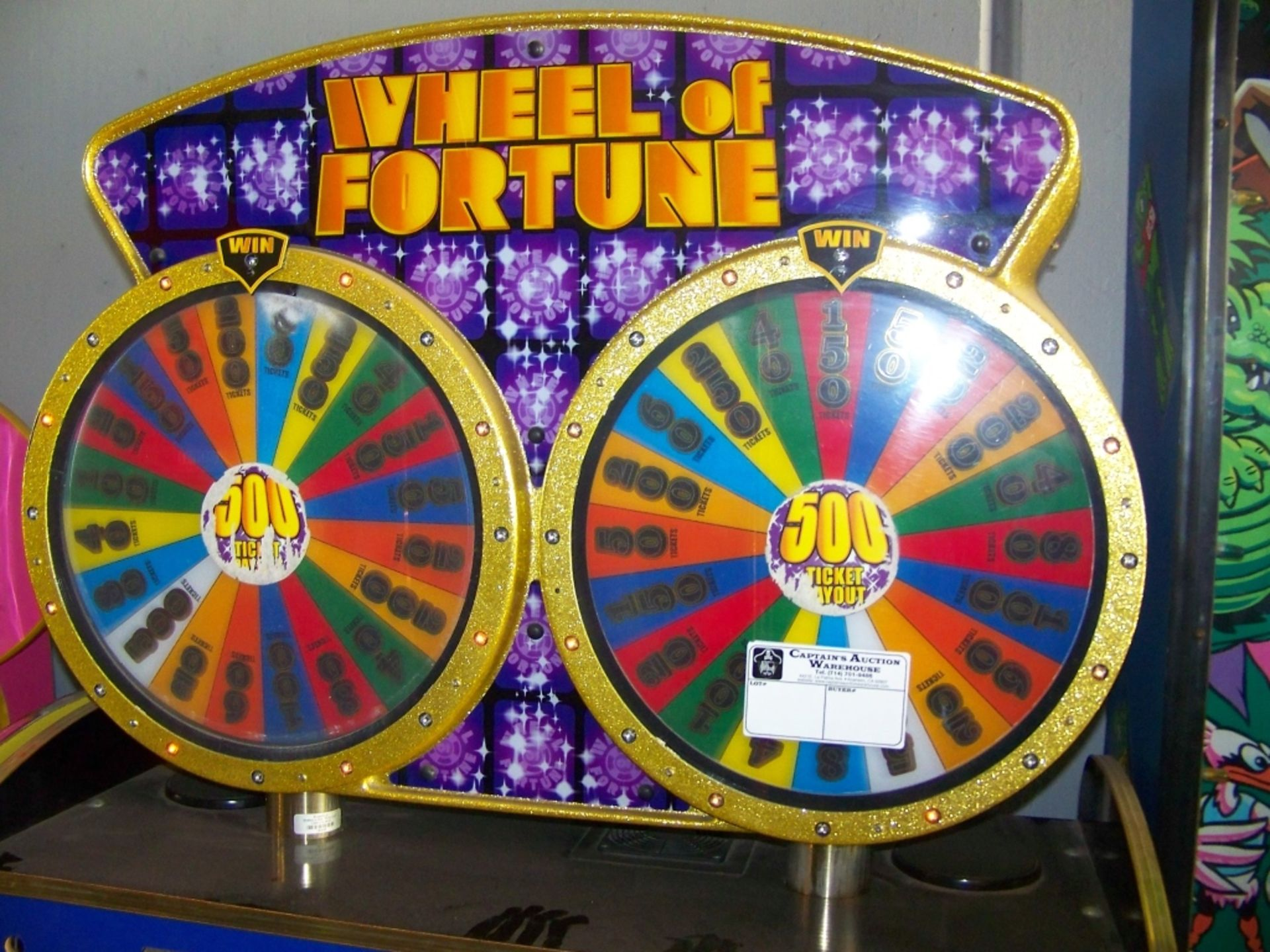 WHEEL OF FORTUNE DUAL PUSHER TICKET REDEMPTION ICE - Image 4 of 4
