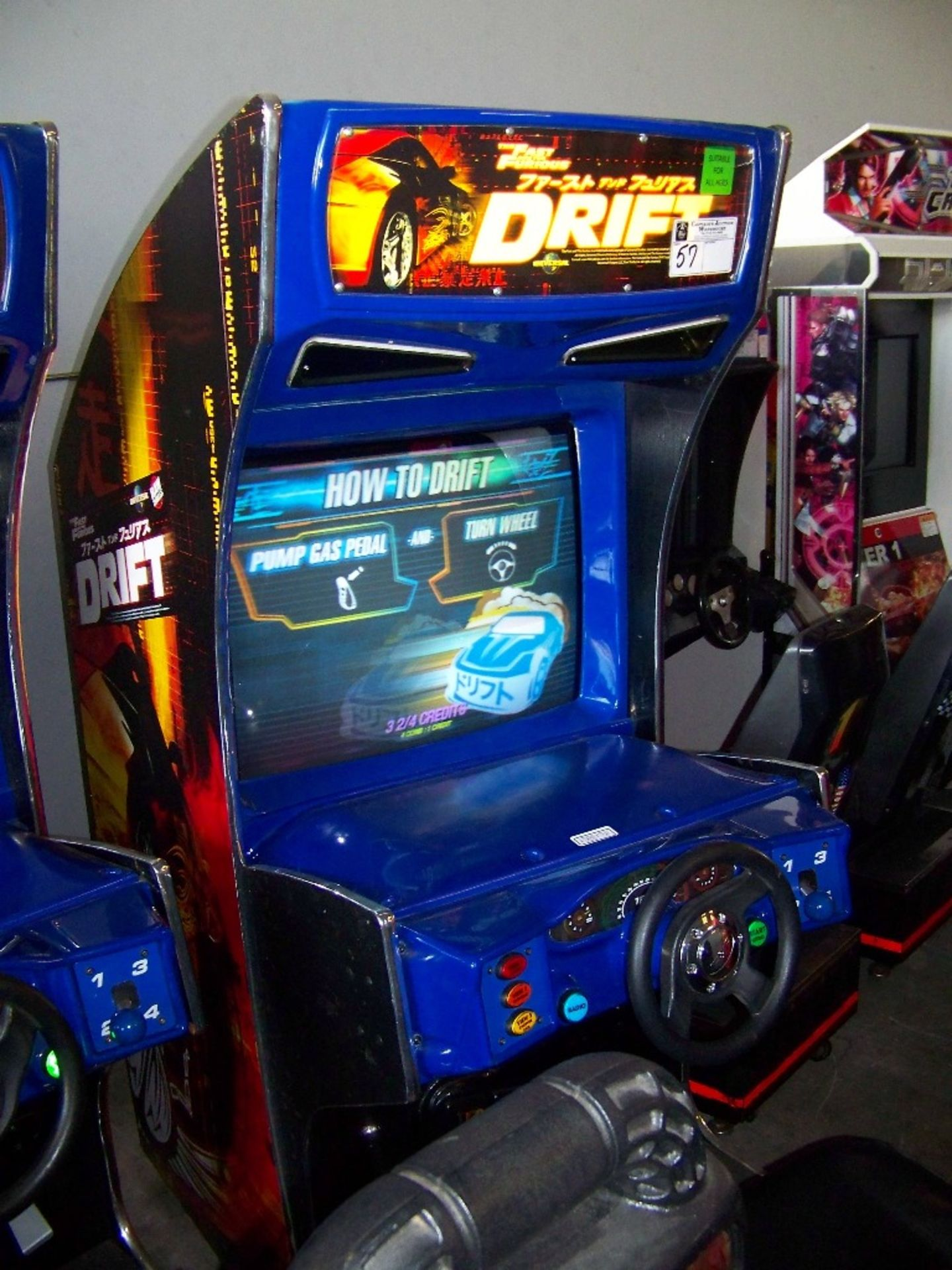 """DRIFT FAST & FURIOUS 31"""" DX RACING ARCADE GAME - Image 2 of 5"""