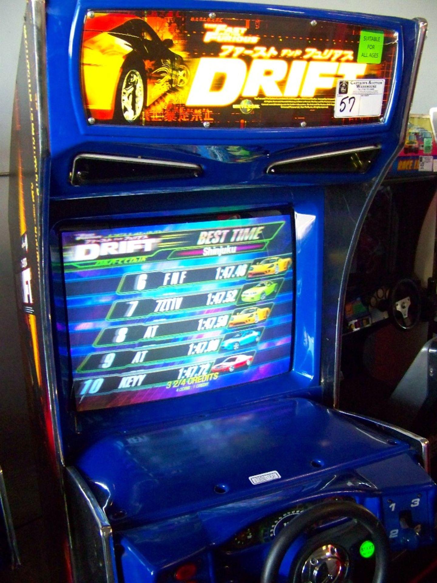 "DRIFT FAST & FURIOUS 31"" DX RACING ARCADE GAME"