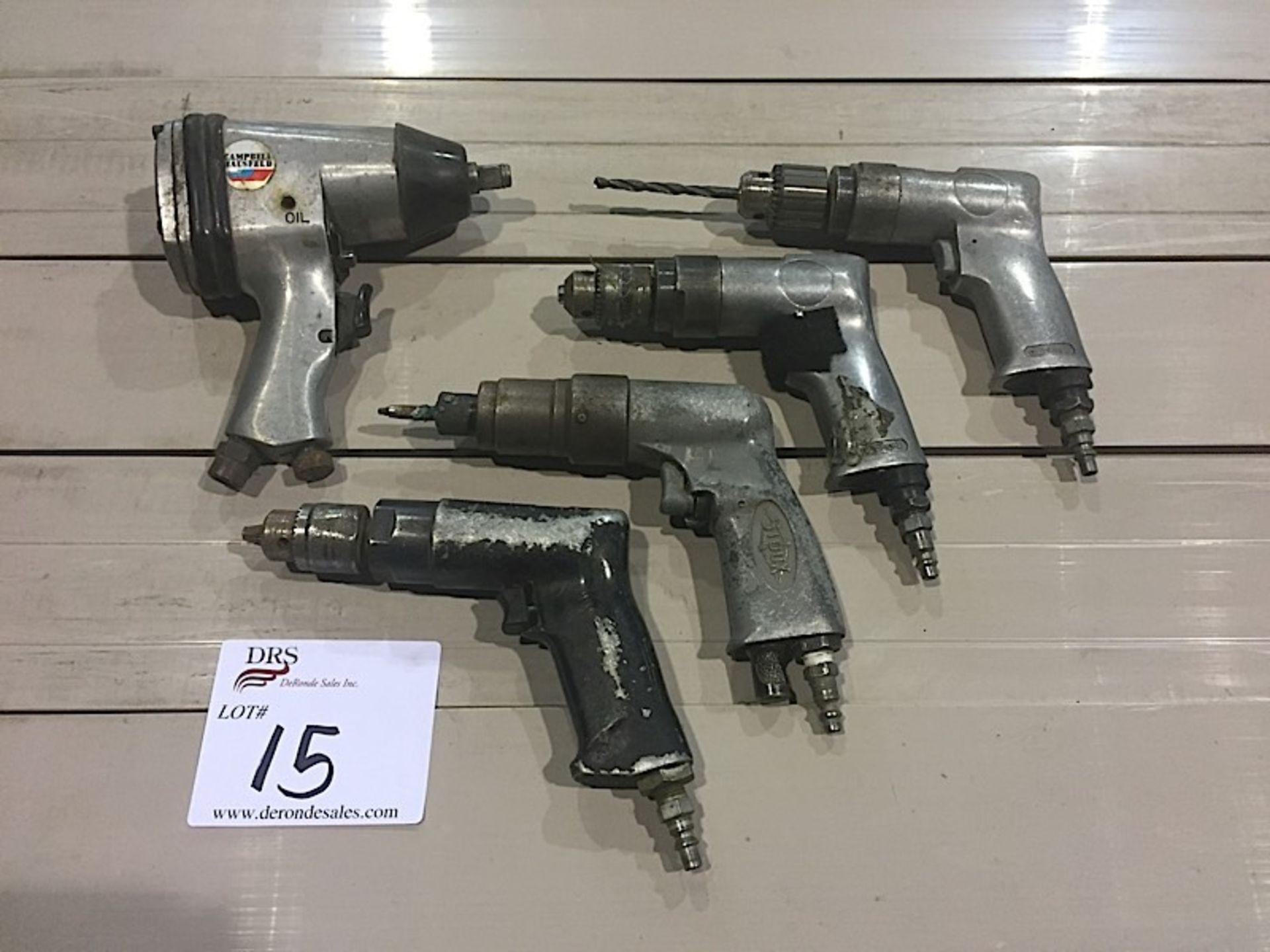 LOT OF PNEUMATIC SCREW GUNS