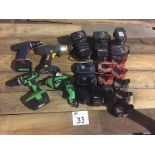 LOT OF ELECTRIC DRIVERS