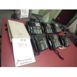 NORTEL PHONE SYSTEM, C/W 6 PHONES