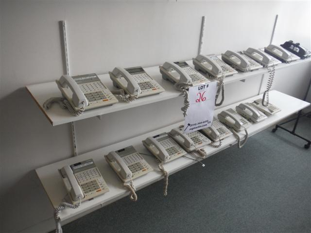 """Lot 26 - PANASONIC 14 PHONE SYSTEM, 2X DIGITAL HYBRID SYSTEM,Sold as a lotVOICE PROCESSING SYS. #TVP50, """""""