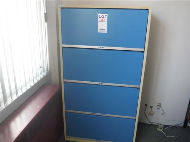 Lot 10 - 4 DRAWER LATERAL FILE CABINET