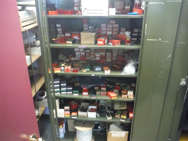 Lot 15 - 2 DOOR CABINET W/ CONTENTS Sold as a lot