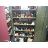 2 DOOR CABINET W/ CONTENTS Sold as a lot