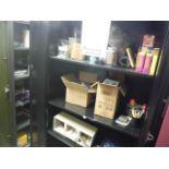 2 DOOR STATIONARY CABINET W/ ASST'D STATIONAIRIESSold as a lot