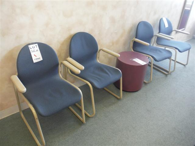 Lot 1 - ASST'D VISITORS CHAIRS, MIRROR, ETC.Sold as a lot