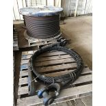 NEW SPARE PARTS FOR MANITOWOC 4600-S4 CRAWLER CRANE--(1) SPOOL OF CABLE, (1) SKID OF NEW WIRE ROPE