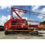 """MANITOWOC 4000W CRAWLER CRANE, S/N 40111, APPROXIMATELY 125' BOOM--(2) BOOM SECTIONS, JIB, 46"""" PADS,"""