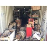 LARGE LOT OF SPARE MANITOWOC CRAWLER CRANE PARTS—CONTAINER IS NOW INCLUDED IN SALE