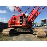 """MANITOWOC 4000W CRAWLER CRANE, S/N 40187, APPROXIMATELY 130' BOOM--(3) BOOM SECTIONS, JIB, 46"""" PADS,"""