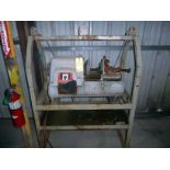 """PIPE THREADER, RIDGID 2"""", Mdl. 535 Series, cut-off & reamer, on fabricated stand, S/N N.A."""
