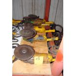 """LOT OF ELECTRIC RIGHT ANGLE GRINDERS (5), DEWALT 8"""", H.D."""