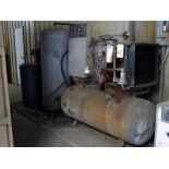 ROTARY SCREW AIR COMPRESSOR, INGERSOLL RAND MDL. SSR125HAACC13F, 125 CFM, 35 HP motor, mtd. to 90