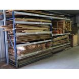 LOT OF PLYWOOD, LUMBER, CONCRETE MIX, 4X4 CRATE  (on pallet rack)