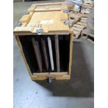 LOT OF GRANITE SLAB TRADESHOW SAMPLES (4), DUPONT ZODIAQ (in one crate)