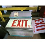 LOT OF LUMINOUS EXIT SIGNS