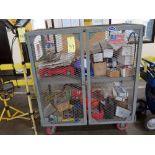 BANDING CART, w/screws, nuts, bolts, gas tank, etc.