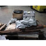 LOT OF CANOPIES & PATIO UMBRELLA (on two pallets)