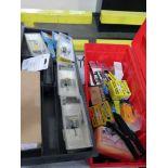 TOOLBOX, w/staple guns, staples & router bits