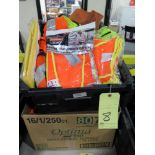 LOT OF SAFETY VESTS  (in one tub & one box)