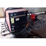 MIG WELDER, LINCOLN MDL. DC600, 600 amps @ 44 v., 100% duty cycle, Lincoln Mdl. LN7 wire feeder, S/N