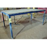 """LOT OF PORTABLE STEEL TABLES (4), 48"""" x 96"""""""