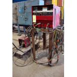 MIG WELDER, LINCOLN MDL. CV300, 300 amps @ 32 v., 100% duty cycle, on fabricated metal stand,