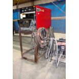 MIG WELDER, LINCOLN MDL. DC600, 600 amps @ 44 v., 100% duty cycle, Lincoln Mdl. LN7 wire feeder,