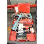 LOT CONSISTING OF HILTI MDL. DX350 POWER ACTUATED TOOL, PNEUMATIC MAKITA RECIPROCATING SAW, RIVET